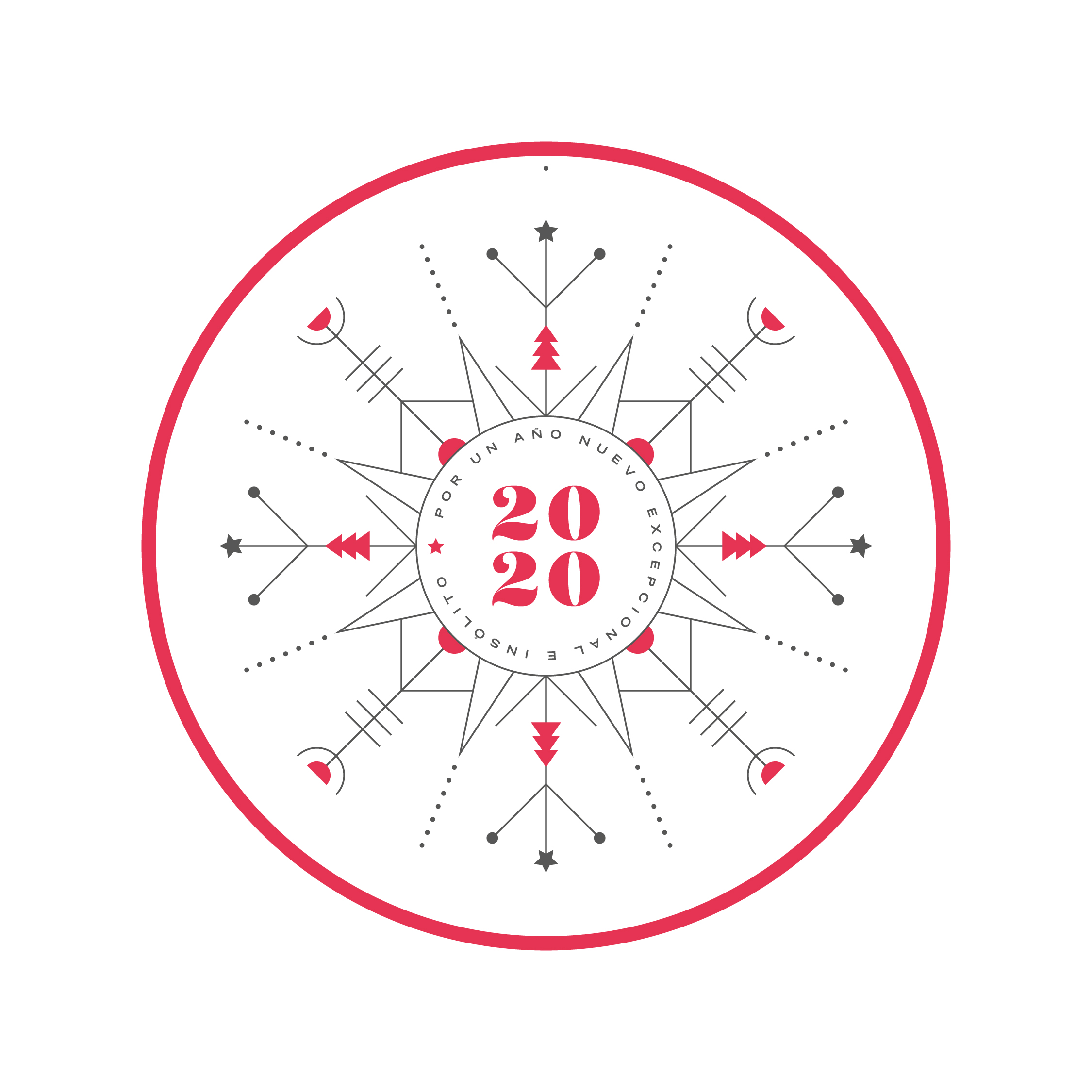 Vegvisir rojo - Eva Arias Graphic Studio