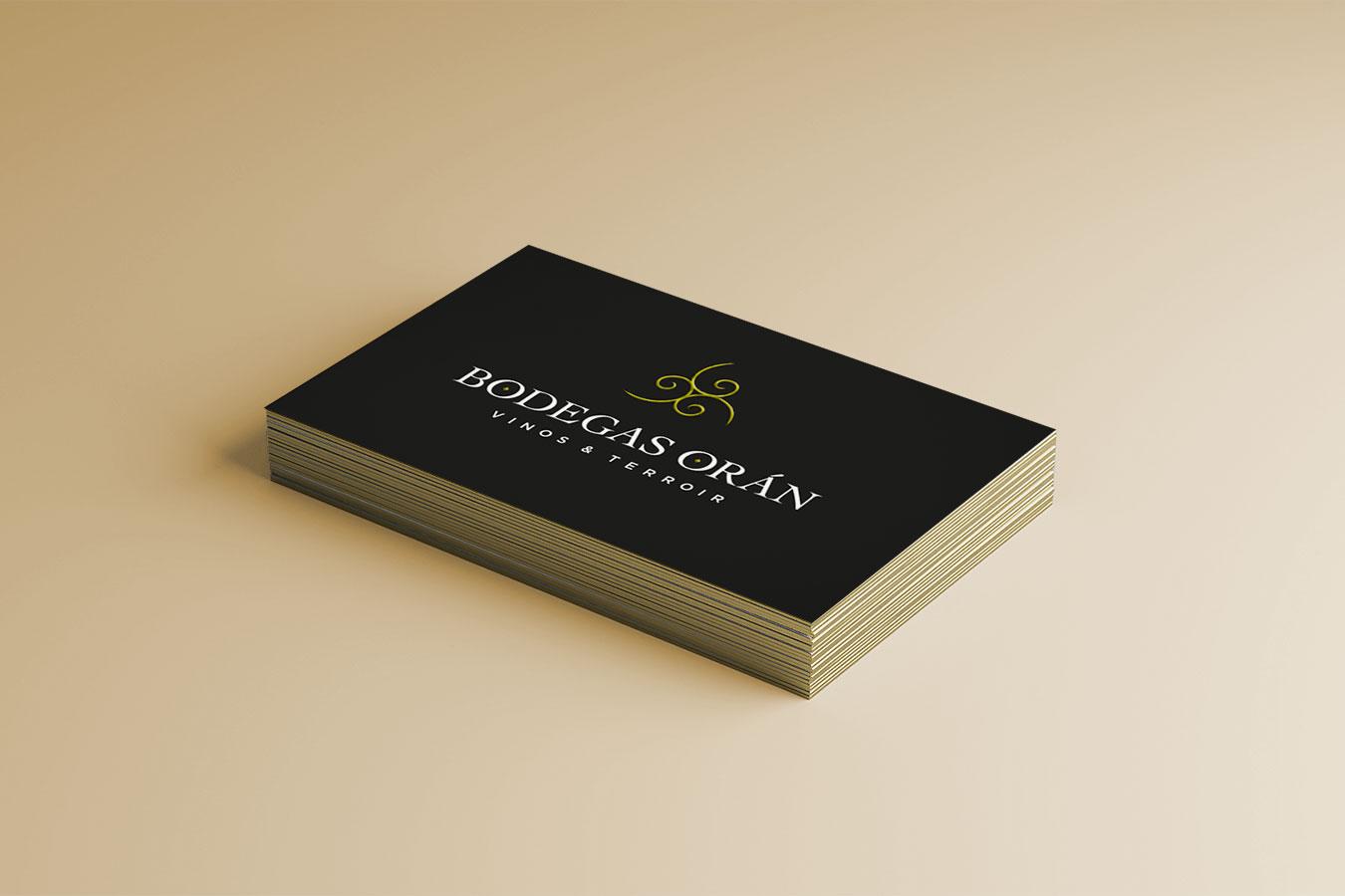 Bodegas Orán tarjeta - Eva Arias Graphic Studio